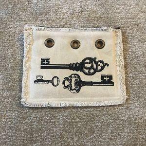 Off-White Key Design Makeup Bag